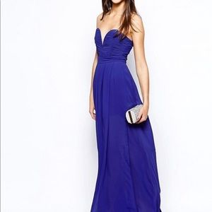 TFNC maxi dress with plunge with plunge bustier